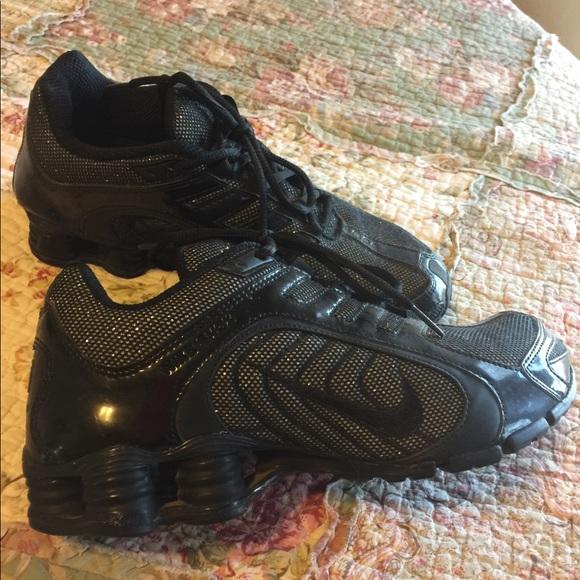 online retailer 77c7f f7c19 Nike shocks black glitter 8.5